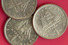 One drachma Greek coins. Stock Photography