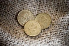 One drachma Greek coins. Stock Photos
