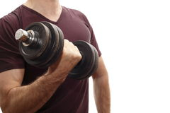 One dumbbell Royalty Free Stock Photo