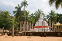 One of the earliest Buddhist temples Ambasthala Dagoba on mango plateau. Mihintale Royalty Free Stock Photos