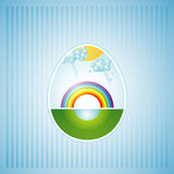 One easter egg, vector Royalty Free Stock Images