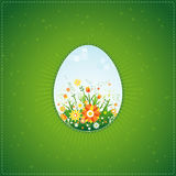 One easter eggs, vector Stock Photography