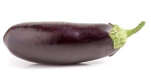 One eggplant isolated on white background macro Royalty Free Stock Photography