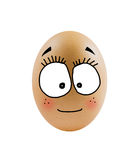 One eggs with face Stock Photos