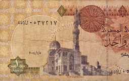 One Egypt pound banknote fragment Royalty Free Stock Image