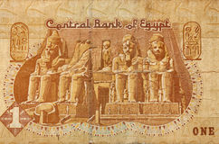 One Egypt pound banknote fragment Royalty Free Stock Images