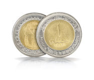 One Egyptian Pound Closeup Royalty Free Stock Images