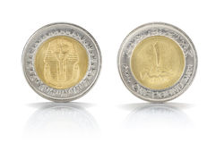 One Egyptian Pound Coin Royalty Free Stock Photo