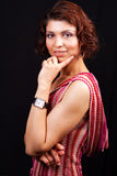 One elegant middle aged woman posing Stock Photography