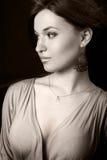 One elegant beautiful young woman Stock Image