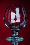 One empty vine glass Stock Image