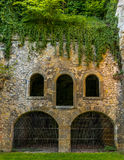 One of the entrance to the Casemates in Luxembourg. One of the entrance to the Casemates in  Luxembourg in Spring Royalty Free Stock Image