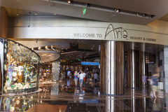 One of the entrances to Aria in Las Vegas, NV on August 06, 2013 Stock Photo