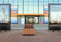 One of the entrances to the complex ExpoForum Royalty Free Stock Images