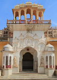One of entrances to palace Hawa Mahal in Jaipur Royalty Free Stock Photography