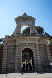 One of the Entrances to the Palatine Hill in Rome Italy Royalty Free Stock Image