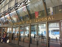Port Authority Bus Terminal PABT, Important Transportation Hub, NYC, NY, USA. One of the entrances to the Port Authority Bus Terminal PABT in New York City. This Royalty Free Stock Photos