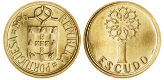 One Escudo Coin Isolated Stock Photography
