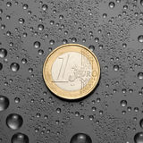 One EURO Royalty Free Stock Images