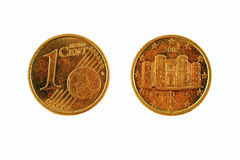 One Euro cent - both sides Stock Photos
