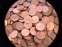 One euro cent coin stock image