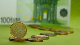 One euro coin Stock Photos