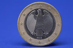 One Euro coin Royalty Free Stock Photo