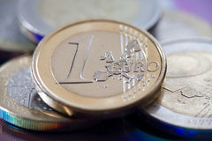 One euro coin Stock Images