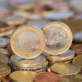 One Euro coin Belgium Royalty Free Stock Photo