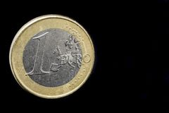 One  Euro Coin stock photography