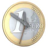 One euro coin clock Stock Images