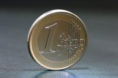 One euro coin closeup Royalty Free Stock Photo