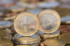 One Euro coin from Cyprus Stock Photography