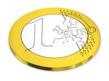 One Euro Royalty Free Stock Photo