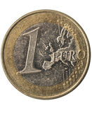 One euro coin. With the europe map. (full with sharp details Stock Photo