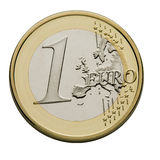 One Euro Coin - European Union Currency. Close-up Stock Images