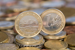 One Euro coin from Finland Stock Photos