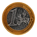 One euro coin isolated on white Royalty Free Stock Photo