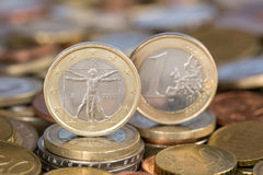 One Euro coin from Italy. A one Euro coin from the EU member country Italy Royalty Free Stock Images