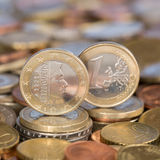 One Euro coin Luxemburg Royalty Free Stock Photography
