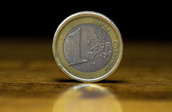 One euro coin macro Stock Photo