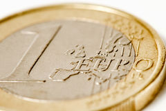 One euro coin macro Royalty Free Stock Images