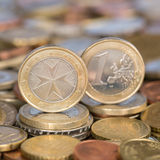 One Euro coin Malta Royalty Free Stock Photo