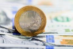 One euro coin Stock Photo