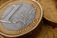 One euro coin Royalty Free Stock Photography