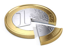 One euro coin pie chart Stock Photo