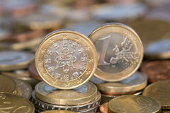 One Euro coin from Portugal Royalty Free Stock Image