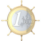 One euro coin steering wheel Royalty Free Stock Images