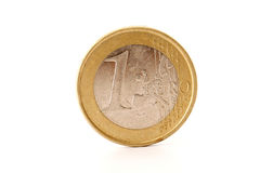 One euro coin on white Stock Photos