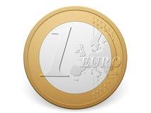 One euro coin Royalty Free Stock Photos